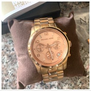 MICHAEL KORS Rose Gold Tone Wrist Watch MK-5128